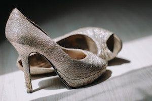 Glitzer Schuhe sind glamourös, edel