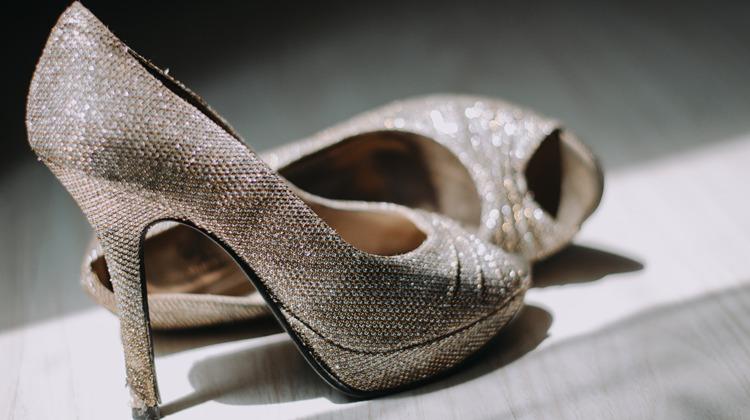 Glitzer Schuhe