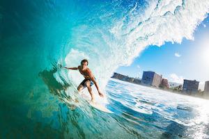 Surfing ist ein aufregender Sport